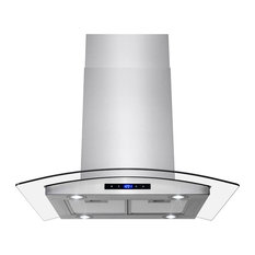 akdy home improvement akdy stainless steel island mount range hood tempered glasstouch