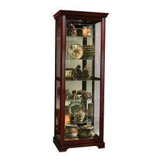 Display Case With Sliding Door, Victorian Cherry