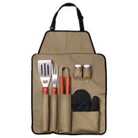 7-Piece BBQ Apron and Utensil Set by Chef Buddy