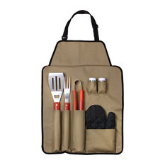 Chef Buddy - 7-Piece BBQ Apron and Utensil Set by Chef Buddy - Grill Tools & Accessories