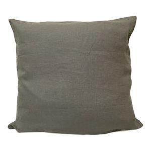 Flynn Linen Euro Sham Lake Contemporary Pillowcases And Shams By Company C