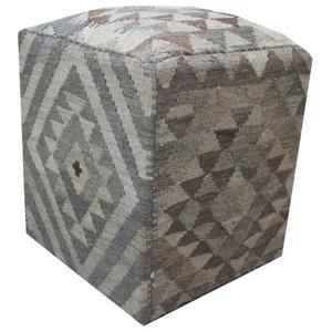 Natural Kilim Cube Stool 5