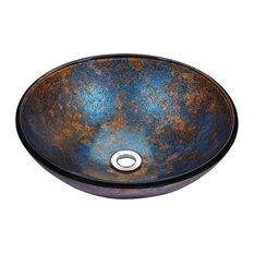 ANZZI Stellar Series Deco-Glass Vessel Sink in Sapphire Burst