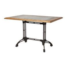 Reclaimed Oak Industrial Dining Table