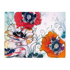 Delicate Flowers Wallpaper Mural, 350x270 cm