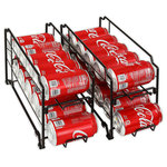 Simple - Stackable Front Loading Beverage Can Dispenser Rack, Set of 2 - Beverage Can Dispenser Rack holds 12 standard size 12 oz soda cans and small size food cans.