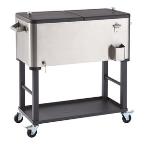 """Trinity Stainless Steel 72"""" Rolling Workbench ..."""