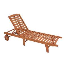 Palm Springs Wooden Sun Lounger