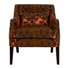 Eva Traditional Armchair, Enchanted Valley Orange