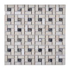 """Legion Furniture 11.75""""x11.75"""" Gusty Bluff Mosaic Tile"""