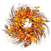 """24"""" Wild Fall Leaf Twig Wreath"""