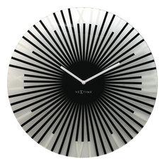 Sticks Round Wall Clock, Black