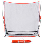 GoSports - GoSports 7'x7' Personal Indoor Outdoor Net - The GoSports 7' x 7' golf net was designed by golfers, for golfers to provide a must-have practice tool. For a variety of reasons, we can't always make it out to the range to work on our game, so unless you are Tiger Woods and have a course in your backyard, you need this product! That's because the hitting net allows golfers to practice full shots with real golf balls for the most realistic practice experience. The net is also very popular for use with launch monitors to really take your practice to the next level. The net can be used indoors or outdoors as long as you have a large enough space to safely swing a club. GoSports is a growing force in the golf training market and the net is backed by a lifetime warranty so you can buy with complete confidence. Beware of other golf equipment that looks similar, but are made by foreign companies who have never even played a real round of golf.