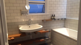 floating shelves,inlayed tiles
