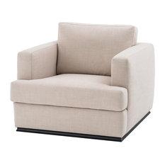 Cube Lounge Chair Eichholtz Hallandale Beige 38-inchx41-inchx34-inch
