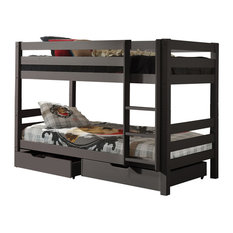 Pino Bunk Bed, Taupe, Euro Double