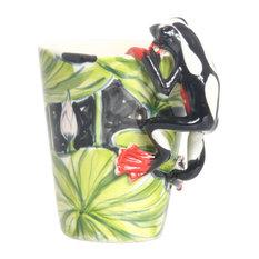 Frog 3D Ceramic Mug, Black And White
