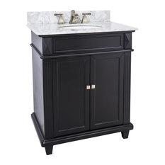 Lyn Design VAN057-30-T-MW, White Marble Top