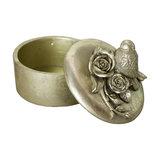 Decorative Bird and Roses Trinket Pot
