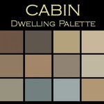 """Color in Space Cabin Palette™ Swatches - Each palette consists of twelve Benjamin Moore® paint colors in 4"""" swatches and no colors are repeated. The intentional selection of the twelve colors ensures that they are energetically balanced and will create the feeling of the dwelling for which it is named."""