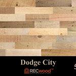 "RECwood Planks - Dodge City 5"" Reclaimed Wood Panels, 20 Sq Ft - $4.99 per square foot"