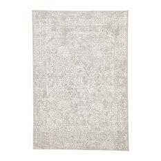 "Jaipur Living Lianna Abstract Gray/White Area Rug, 5'x7'6"""