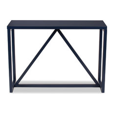 Exceptionnel Uniek   Kaya Wood Console Table, Navy Blue   Console Tables
