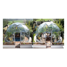 Geodesic dome spa, hot tub and pool covers