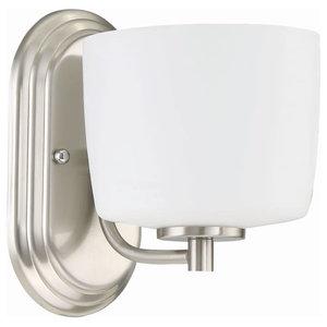 """Craftmade 43501 1-Light Bathroom Sconce, Brushed Polished Nickel, 5-7/8"""""""