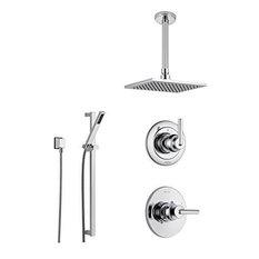 Delta Trinsic Chrome Shower System with Normal Shower Handle, 3-setting Diverter