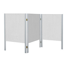 Tabletop Folding Pegboard Organizer and Display, White