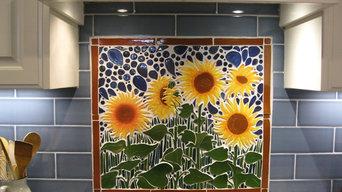 Sunflower backsplash