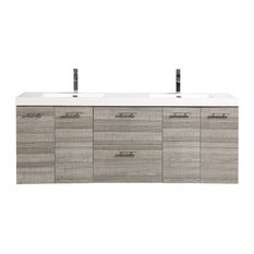 "Eviva Luxury 84"" Bathroom Vanity, Ash"