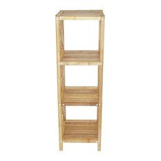Bamboo54 Bamboo 4 Tier Bath Shelf Bathroom Cabinets And Shelves