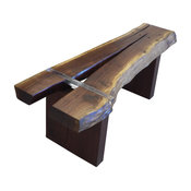 Walnut Bench With Clearly Dimensional Joint