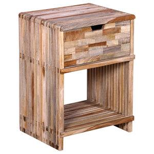 VidaXL Bedside Cabinet With Drawer in Reclaimed Teak