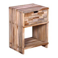 VidaXL Bedside Cabinet With Drawer in Reclaimed Teak