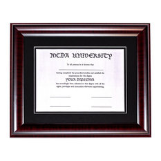 "Diploma Frame with Double Mat, 8.5""x11"" Diploma"