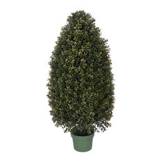 """Artificial 32"""" Boxwood Tower Topiary"""