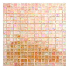 "Breeze 0.62""x0.62"" Glass Mosaic Tile, Orange"