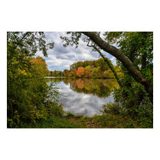 """""""Lost in Autumn Color"""" Landscape Photo, Rural Unframed Wall Art Print, 24""""x36"""""""