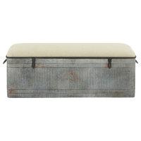 "Metal Fabric Bench 50""x18"""