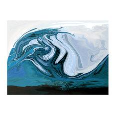 Ocean Blue Limited Edition Glass Art, 60x80 cm
