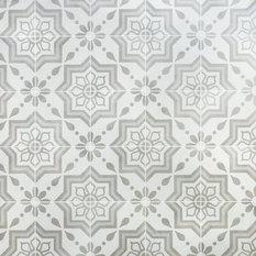Cascais Silver Sky Matte Porcelain Tile, Sample