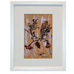 "Nature Artist - Glowing arrangement - * Oshibana (pressed plants) artwork in a 14"" x 17"" black frame."