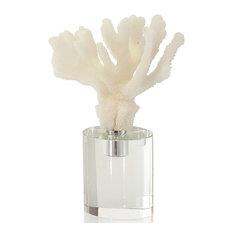 John-Richard Buckroe Coastal Beach White Finger Faux Coral Sculpture