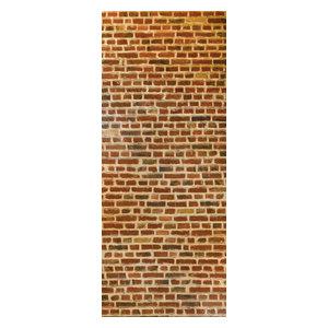 Brick Wall Panel, Red, 96x240 cm