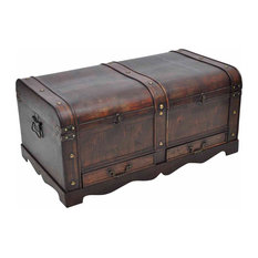 VidaXL Vintage Large Wooden Treasure Chest, Brown