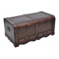 VidaXL Vintage Large Wooden Treasure Chest, Brown