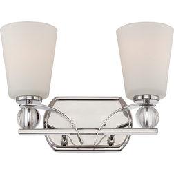 Simple Traditional Bathroom Vanity Lighting by Satco Lighting